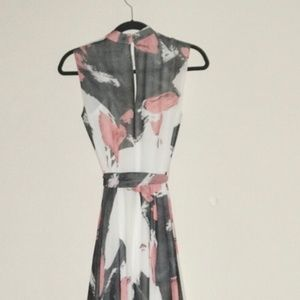 TY-LR Dresses - TY-LR The Hall Maxi Dress with Brushstroke Print